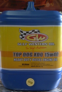 Gulf Western Oil Top Dog XDO 15W-40 Premium Diesel Engine Oil 10 litre